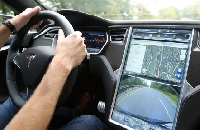 Tesla traffic navigation software