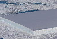 rectangular iceberg spotted by NASA