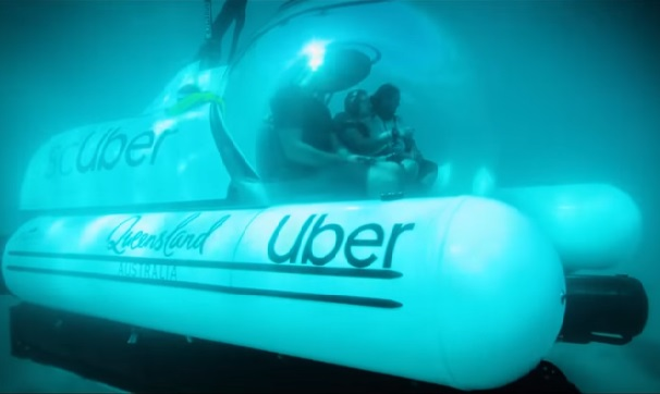 First underwater Ride-hailing service ScUber from Uber