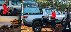 Electric Pickup-truck with A Camp Kitchen from Rivian
