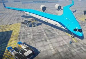 Flying V project of KLM Royal Dutch Airlines and Delft University