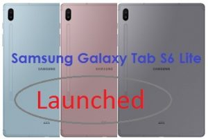 Samsung has officially launched Galaxy Tab S6 Lite